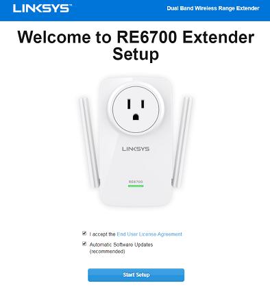 linksys re6700 extender setup
